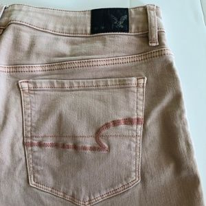 American Eagle High Rise pink shortie sz 14